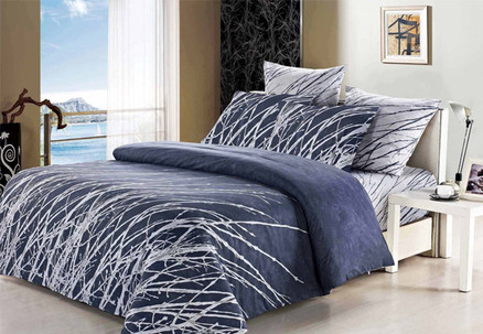 Queen 1000TC Esha Duvet Cover Set - Options for King, Super King, European Pillowcases, Cushion Covers or Extra Pair of Standard Pillowcases