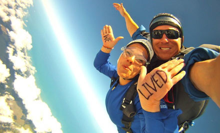 $169 for a 13,000ft Skydive & Two $50 Vouchers (value $425)