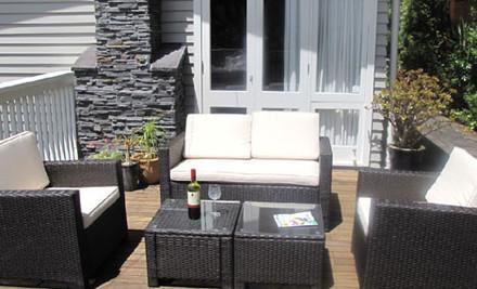 $829 for a Deluxe Corner Design or Five-Piece Outdoor Rattan Furniture Suite