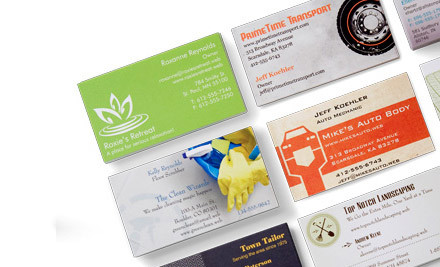$15 for 500 Premium Business Cards with Delivery Featuring Your Design (value $41)