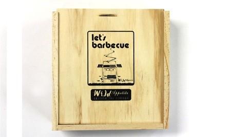 $23 for Wild Appetite Let's BBQ Wooden Box Set (value $40)