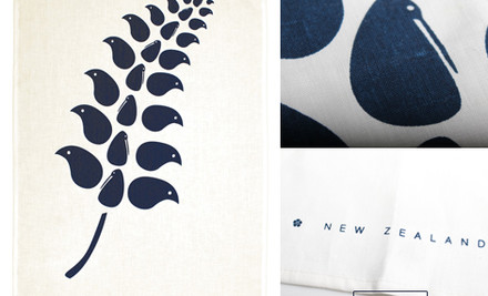 $24 for Two or $45 for Five NZ Designed Linen Tea Towels incl. Nationwide Delivery