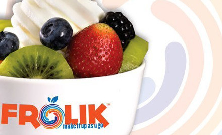 $3 for a $6 Frolik Self Serve Frozen Yoghurt & Toppings Voucher (value $6)