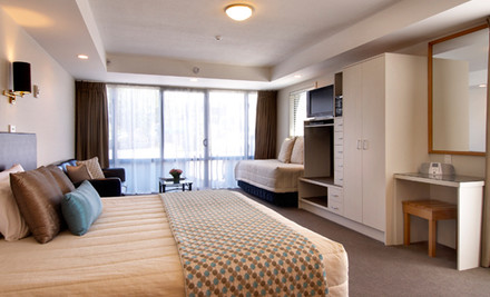 50% off Two Nights for Two People in an Executive Studio or One-Bedroom Apartment incl. a Bottle of Wine & Late Checkout (value up to $520)