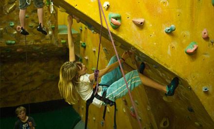 $12 for a Family Rock Climbing Pass (value $38)
