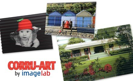 Up to 63% off Your Own Photo Printed on A3 or A2 Corrugated Iron incl. Nationwide Delivery (value up to $529)