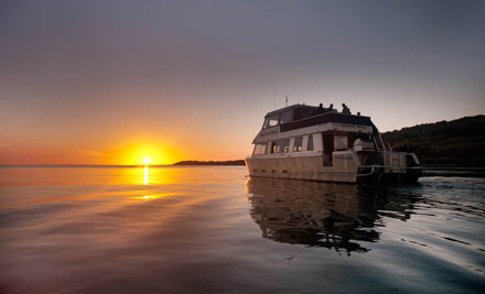 "$25 for an Adult or $15 for a Child for a Sunset Cruise on ""Wahinemoe"" (value up to $49)"