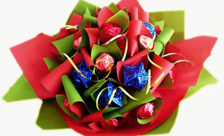 $25 for a Christmas Chocolate Bouquet incl. Nationwide Delivery (value $50)