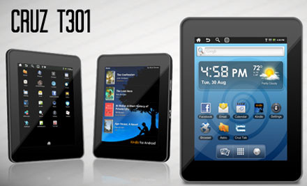 $75 for a Cruz Tablet with WiFi, Android 2.2 & One-Year Warranty incl. Nationwide Delivery