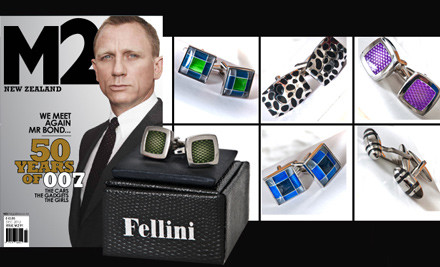 $34 for a Six-Month Subscription to M2 Magazine & Fellini Cufflinks (value $115.70)
