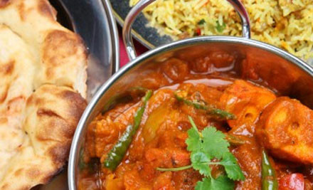 $29 for Two Mixed Platters, Mains, Rice & Garlic Naan for Two People or $56 for Four Mixed Platters, Mains, Rice & Garlic Naan for Four People (value up to $120)