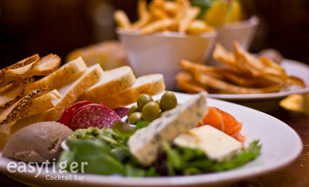 $25 for a Share Platter & Four Glasses of Tap Beer or House Wine (value $68)