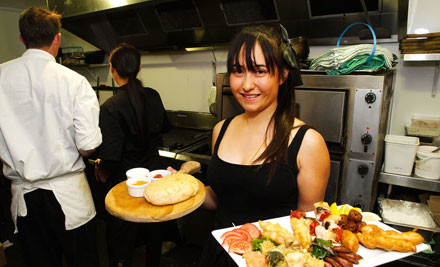 $21 for a Large Gourmet Pizza & Two Glasses of Wine or Two Bottled Beers (value up to $42)