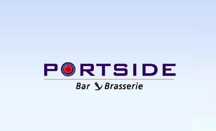 $49 for Dips & Pita, Any 2 Mains & 2 Glasses of Kahurangi Estate Wines from Portside Bar & Brasserie (value $107)