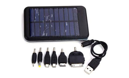 $35 for 5000mah Solar Battery Charger for Tablets and Mobile Phones (value $219)