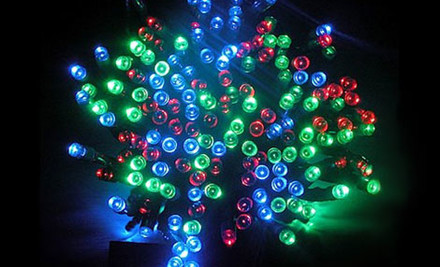 $27 for 15m Multi-Coloured or White Eight Function LED Solar Lights incl. Nationwide Delivery