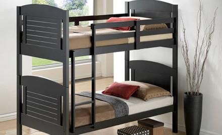 $399 for a Minstrel Bunk Bed in Black