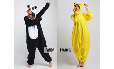 $69 for a Kids' or Adults' Panda or Pikachu Onesie