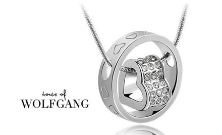 $13 for an 18k White Gold Plated Circle of Love Necklace with Swarovski Elements incl. Nationwide Delivery