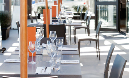 $49 for a Two-Course Dinner for Two People incl. One Beverage Each (value $143)