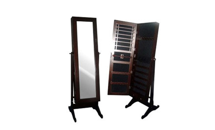 $188 for a Large Jewellery Display Mirror on Solid Wood Stand incl. Nationwide Delivery