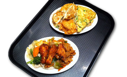 $7 for a Medium Combination Combo With Three Toppings on Rice or Noodles & Drink (value $13)