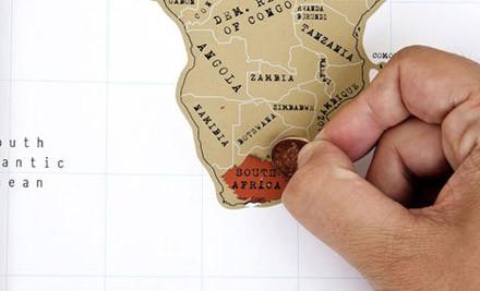 Travel World Scratch Map  GrabOne