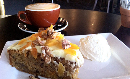 $6 for Coffee & Cake, Slice or Muffin of Your Choice for One (value $12)