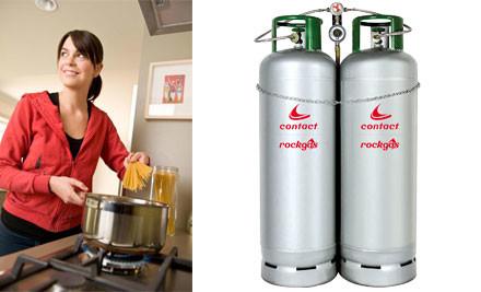 $163 for two full 45kg LPG cylinders delivered incl. 12 months cylinder rental (value $338)