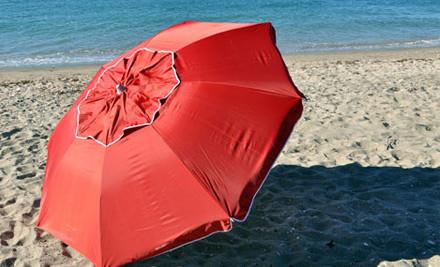 $69 for a Beachcomber Quik Twist Self Anchoring Beach Umbrella (value $139)