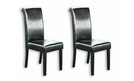 $125 for Two PU Leather Dining Chairs incl. One-Year Warranty
