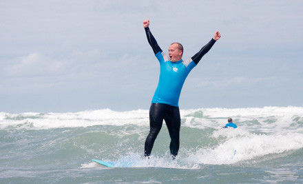 $30 for a Two-Hour Surf Lesson incl. Surfboard & Wetsuit Hire or Three-Hour Surf Board & Wetsuit Hire (value up to $80)