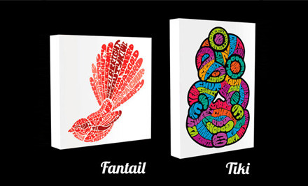 $21 for a Kiwiana Art Block in One of Six Styles incl. Nationwide Delivery