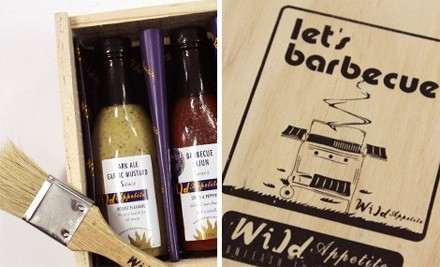 $23 for Wild Appetite Let's BBQ Wooden Box Set (value $40)