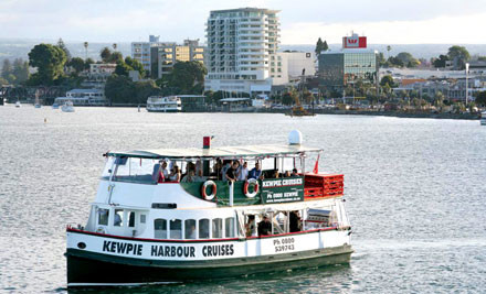 $54 for a 2.5 Hour Sunset Harbour Cruise for Two incl. a Glass of Wine or Beer on Arrival (value $108)