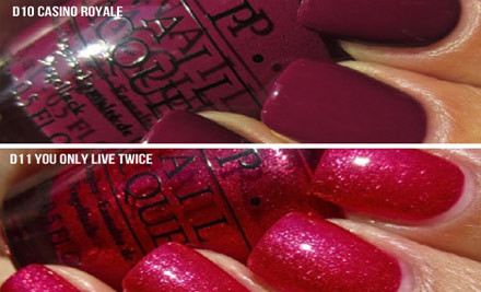 $13 for a Bottle of O.P.I 007 Nail Lacquer