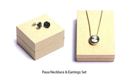 Up to 71% off Black Jade, Green Jade or Paua Necklace & Earrings Sets incl. Nationwide Delivery