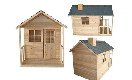$469 for a Wooden Children's Playhouse or $499 with Perspex Windows