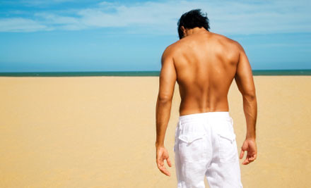 Up to 63% off Chest, Back, Shoulders or Stomach  Laser Hair Removal Treatments for Men (value up to $1,122)