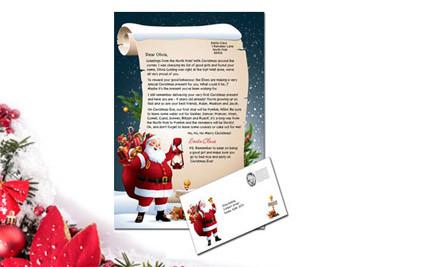 personalised santa letter grabone