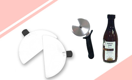 $174 for Pizza Maker, Metal Paddle, Pizza Cutter & Wild Appetite Cajun BBQ Sauce incl. Nationwide Delivery (value $290)