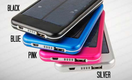 $40 for 5000mah Solar Battery Charger for Tablets and Mobile Phone incl. Nationwide Delivery (value $224)
