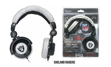 "$20 for iHip Skull Earphones with LED Light or iHip ""Superman"" DJ Headphones, or $32 for iHip NFL DJ Style Headphones (value up to $49.95)"