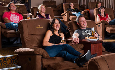 $80 for an EVENT Cinemas Gold Class Date Night for Two, incl. Movie Tickets, Dinner, Drinks, Dessert & Popcorn - Queen St or Albany (value $149)