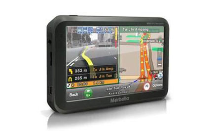 """From $119 for a 4.3"""" High Resolution Marbella Touch Screen GPS with Free Map Updates for Life incl. Nationwide Delivery"""
