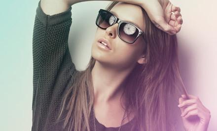 $1 for Chris Cross Classic Black Designer Sunglasses plus $15 Nationwide Shipping, Handling & Insurance (value $179)