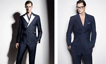 $399 for a Personalised Tailored Suit incl. Bonus Tie & Cufflink Set (value $1,289)