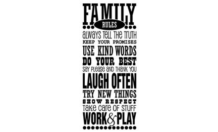 From $20 for a Family Rules Wall Decal