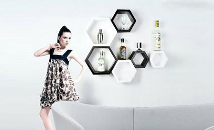 $55 for a Set of Hexagonal Wall Shelves