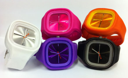 $12 for a Coloured Silicone Wrist Watch